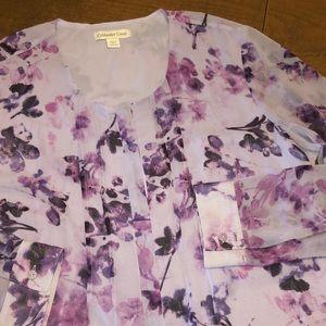 COLDWATER CREEK  Lightweight Purple Blouse L